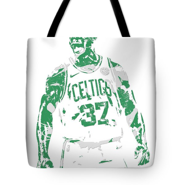 Semi Ojeleye Boston Celtics Pixel Art 1 Tote Bag