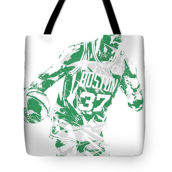 Semi Ojeleye Boston Celtics Pixel Art 2 Tote Bag
