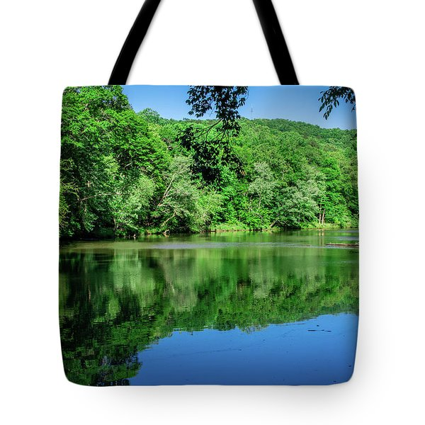 Semi Placid Stream Tote Bag