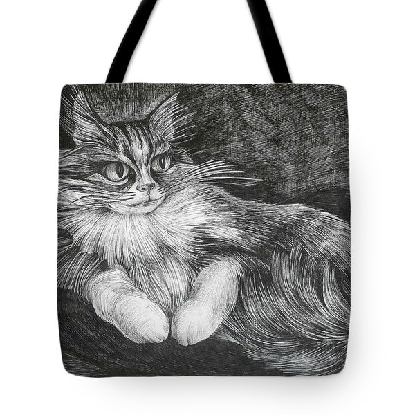 Tote Bag featuring the drawing Semona by Anna  Duyunova