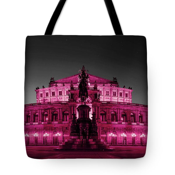 Semperoper Opera House Dresden In Selective Color Tote Bag
