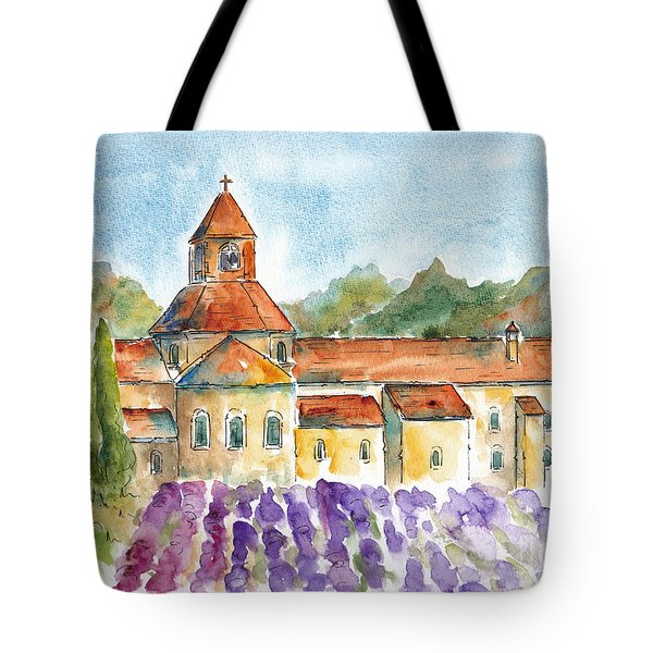 Senanque Abbey Lavender Tote Bag