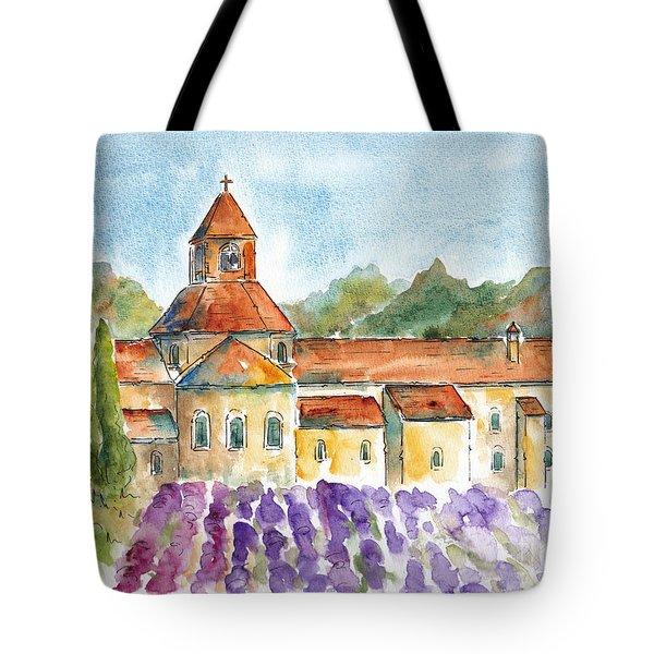 Senanque Abbey Lavender Tote Bag