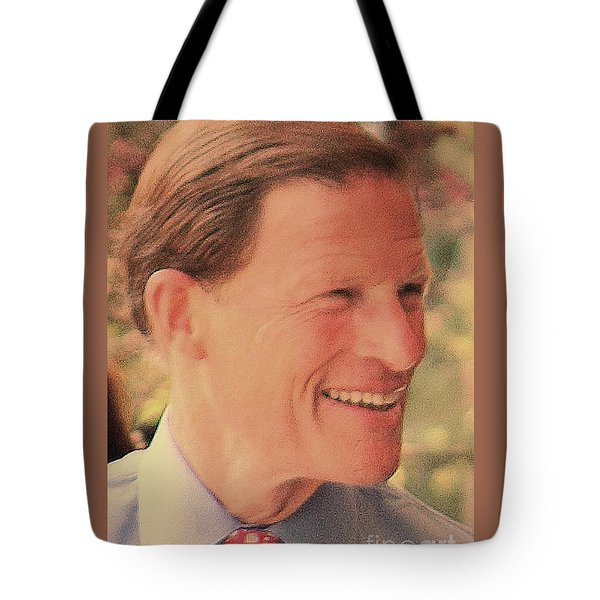 Tote Bag featuring the photograph Senator Richard Blumenthal by Jesse Ciazza