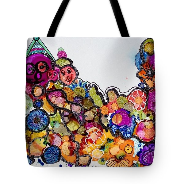 Send In The Clowns Tote Bag by Suzanne Canner