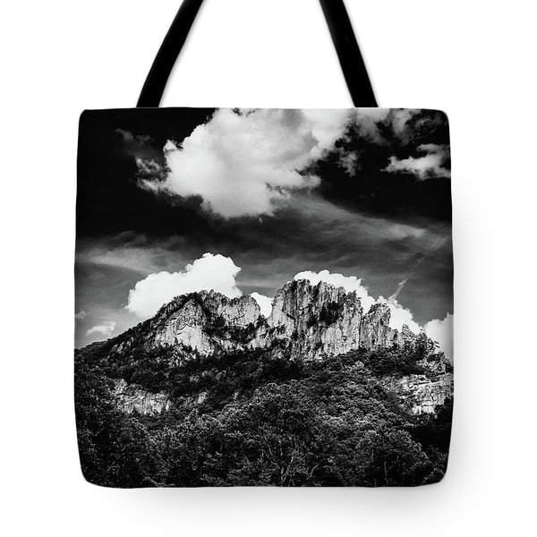 Tote Bag featuring the photograph Seneca Rocks II by Shane Holsclaw