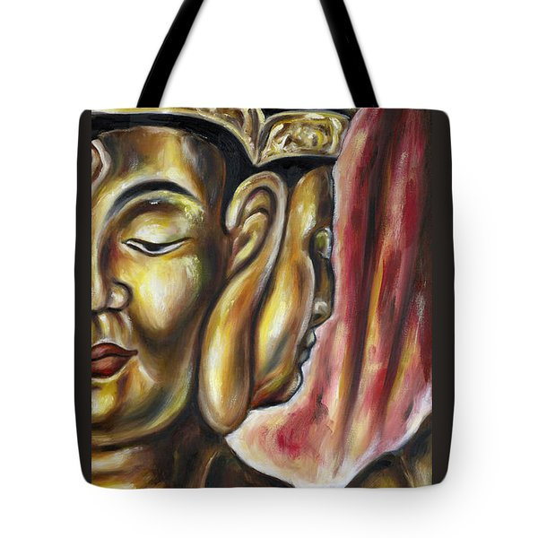 Tote Bag featuring the painting Sengan Senju by Hiroko Sakai