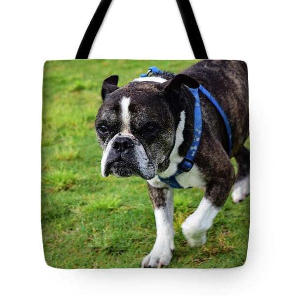 Leroy The Senior Bulldog Tote Bag
