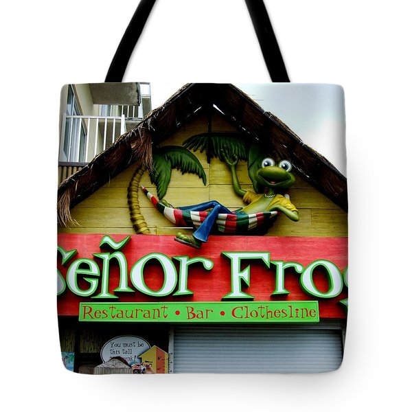 Senor Frogs Tote Bag