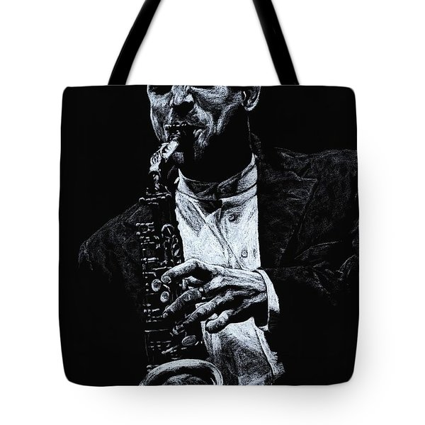 Sensational Sax Tote Bag by Richard Young
