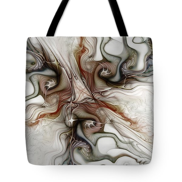 Tote Bag featuring the digital art Sensuality by Karin Kuhlmann