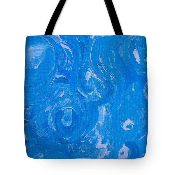 Sensuous Blue Tote Bag by Judith Redman