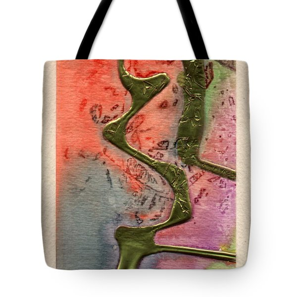 Tote Bag featuring the mixed media Sentimental by Angela L Walker