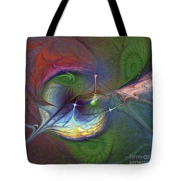 Tote Bag featuring the digital art Sentimental Journey by Karin Kuhlmann