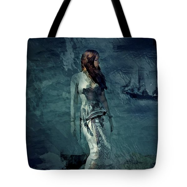 Tote Bag featuring the digital art Sentinel  by Galen Valle
