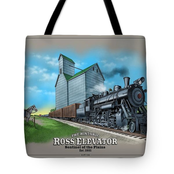 The Ross Elevator Sentinel Of The Plains Tote Bag by Scott Ross