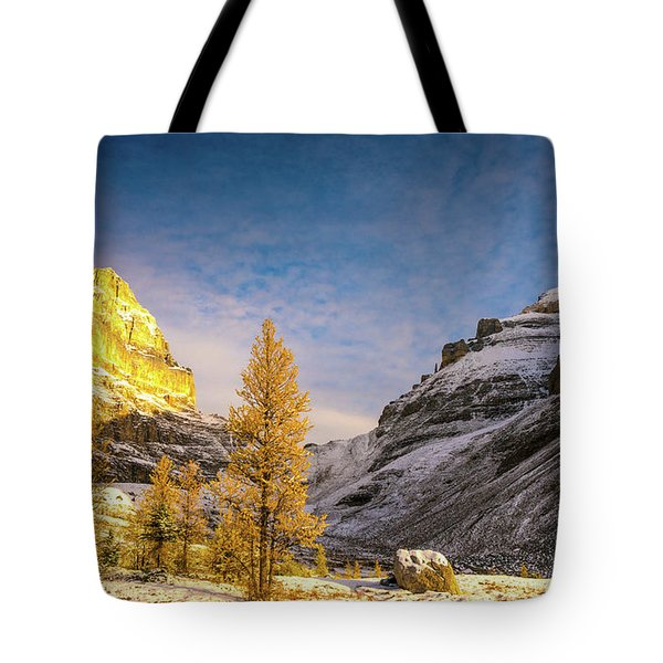 Sentinel Pass Golden Larches Canadian Rockies Tote Bag