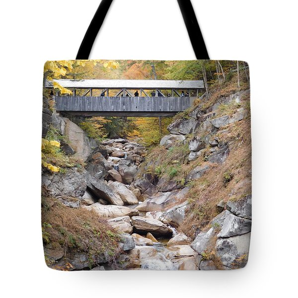 Sentinel Pine Covered Bridge Tote Bag
