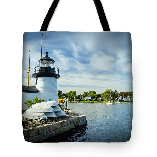 Sentinels Of The Sea Lighthouse Tote Bag