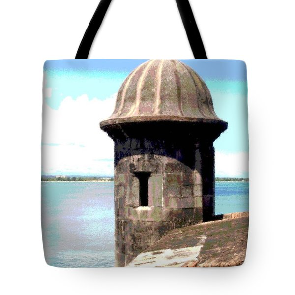 Sentry Box In El Morro Tote Bag