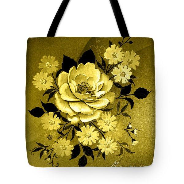 Sepia Bouquet Tote Bag