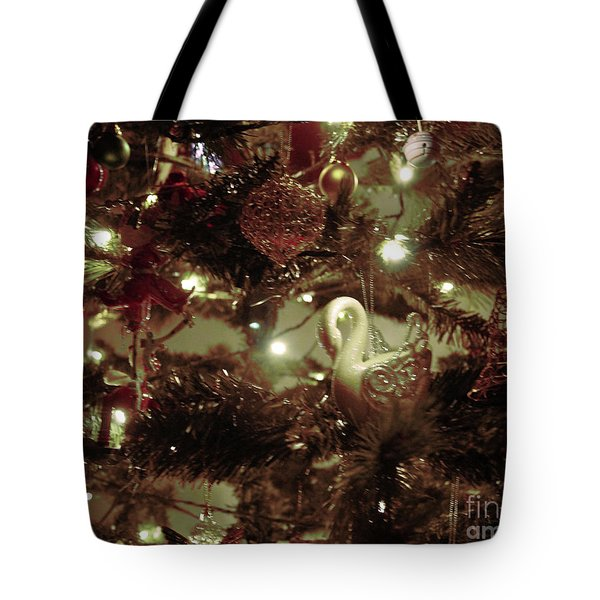 Sepia Christmas Tree Tote Bag