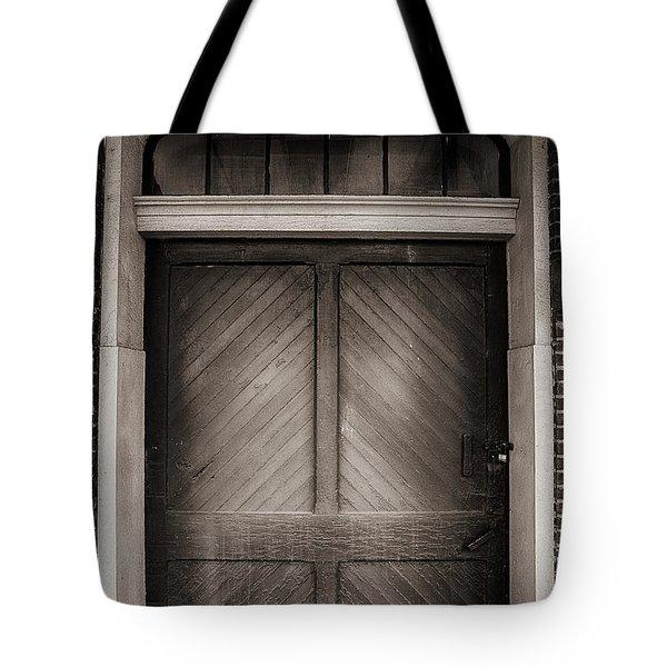 Sepia Doorway Tote Bag