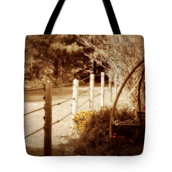 Sepia Garden Tote Bag by Julie Hamilton