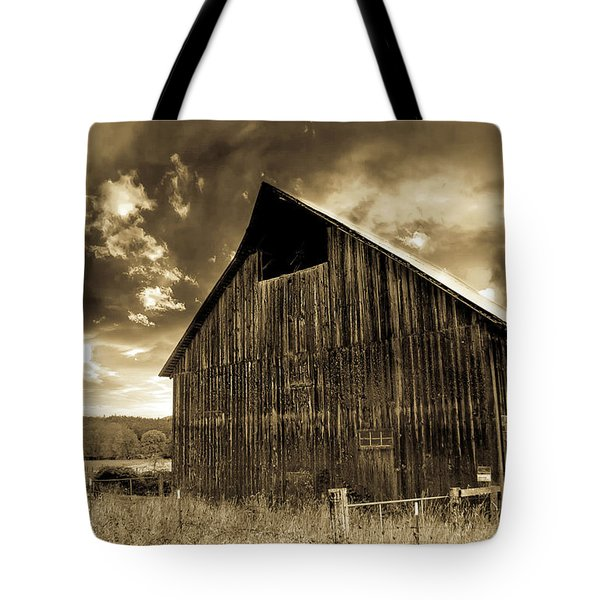 Sepia Historic Barn Tote Bag