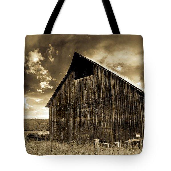 Sepia Historic Barn Tote Bag