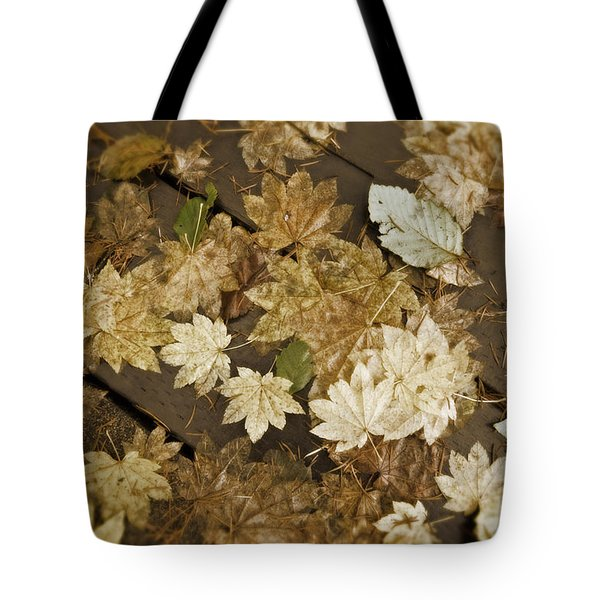 Sepia Leaves Tote Bag