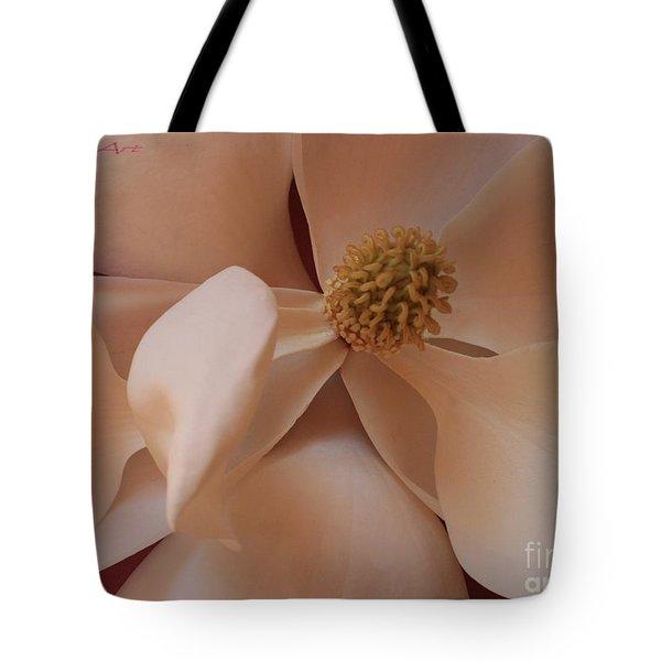 Sepia Magnolia Macro Tote Bag