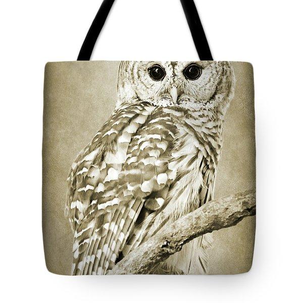 Sepia Owl Tote Bag