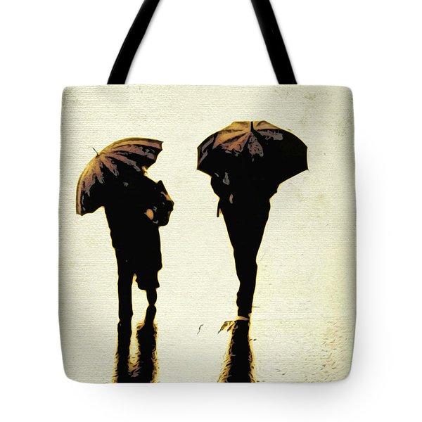 Sepia Rain Tote Bag