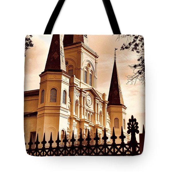 Sepia St. Louis Cathedral Tote Bag