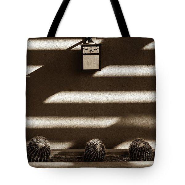 Sepia Stucco Shadows Tote Bag
