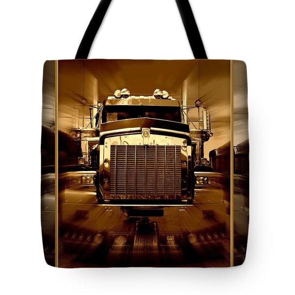 Sepia Toned Kenworth Abstract Tote Bag