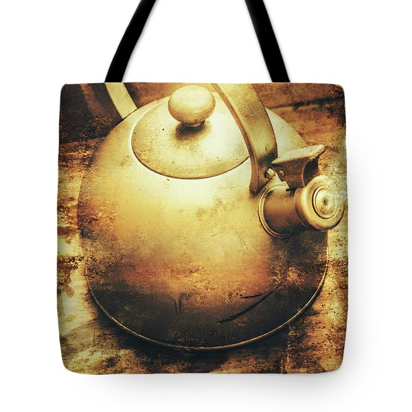 Sepia Toned Old Vintage Domed Kettle Tote Bag