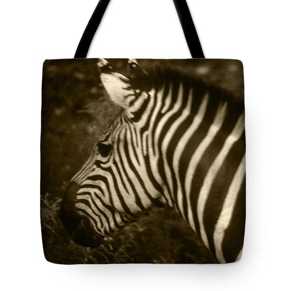 Sepia Zebra Tote Bag by Greg Slocum