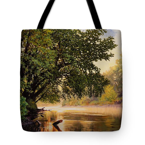 September Dawn, Little Sioux River - Studio Painting Tote Bag