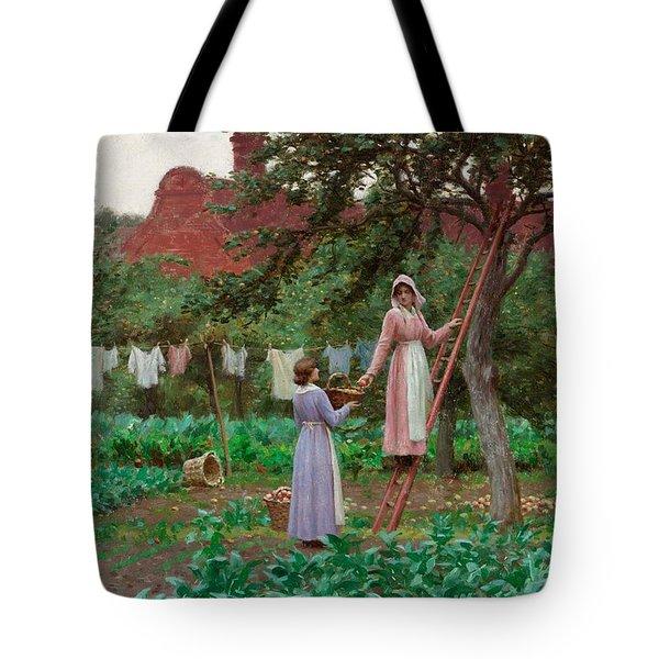 September Tote Bag by Edmund Blair Leighton