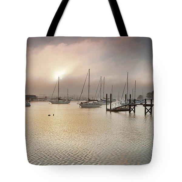September Fog Tote Bag by Butch Lombardi