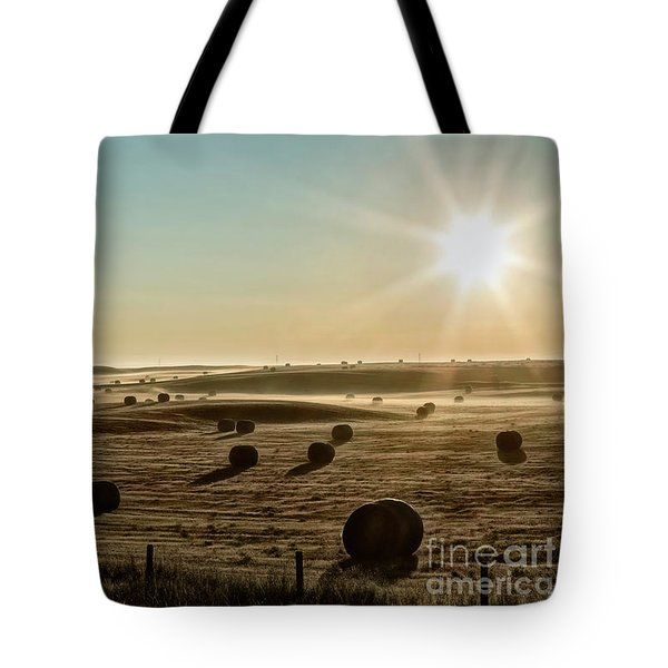 Tote Bag featuring the photograph September Hay by Brad Allen Fine Art