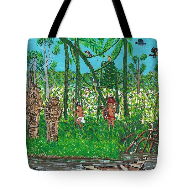 September   Hunters In The Jungle Tote Bag