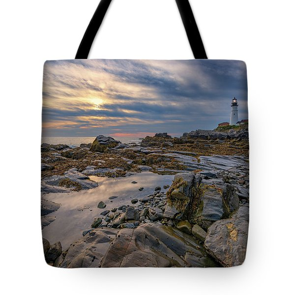 September Morn At Portland Head Tote Bag