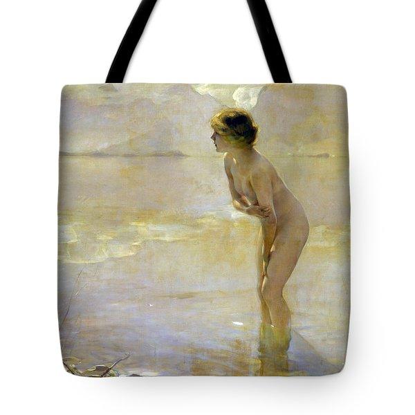 September Morn Tote Bag