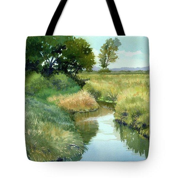 September Morning, Allen Creek Tote Bag