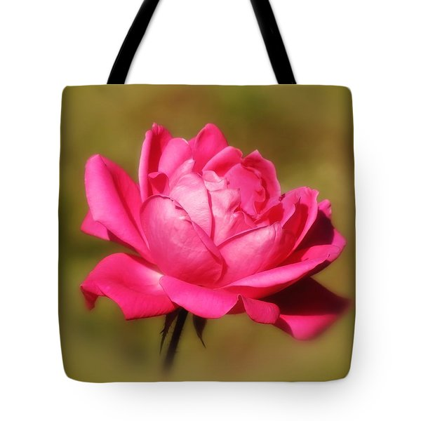 September Rose Up Close Tote Bag