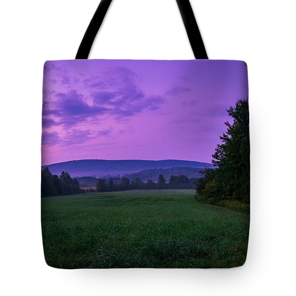 September Twilight Tote Bag by Chris Bordeleau