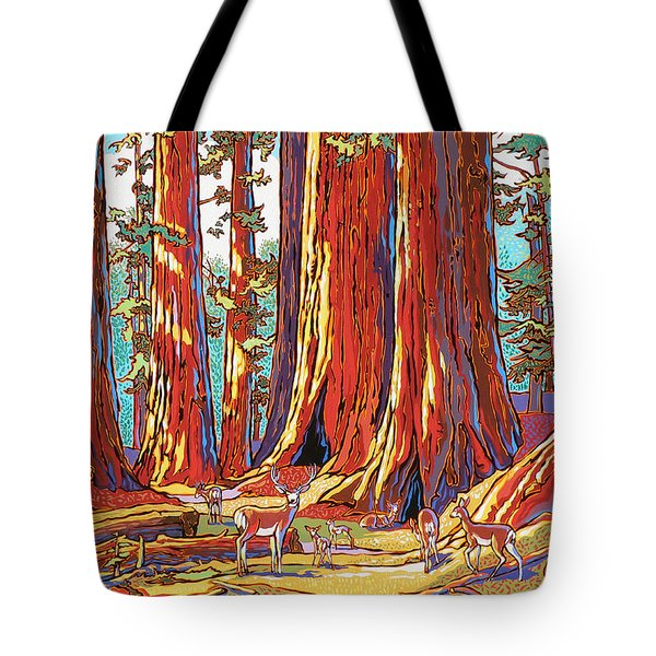 Sequoia Deer Tote Bag by Nadi Spencer
